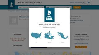 MasterTicket.Center   Better Business Bureau® Profile