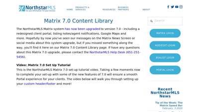 Matrix 7.0 — NorthstarMLS