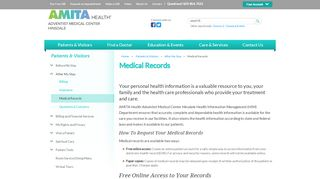 Medical Records - Adventist Midwest Health