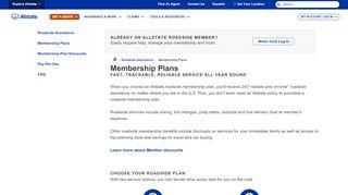 Membership Plans   Allstate Insurance