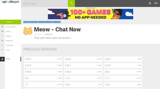 Meow - Chat Now old versions - Android