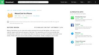 MeowChat for iOS - Free download and software reviews - CNET ...