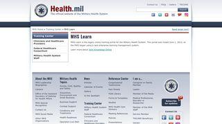 MHS Learn | Health.mil