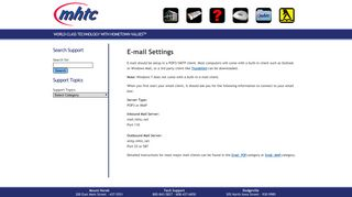 MHTC Technical Support » E-mail Settings