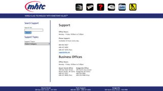 MHTC Technical Support