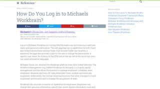 michaels workbrain payroll - NuiToi.com