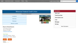 Missoula Federal Credit Union - Missoula, MT at 2610 N ...