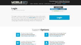 Mobile Spy Login | Online Control Panel Login