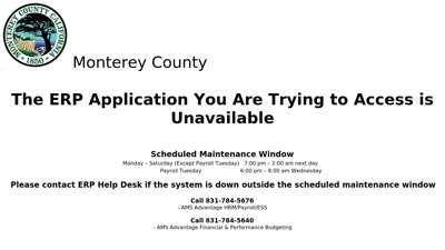 Monterey County - The AMS Advantage ERP Application You ...