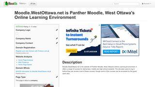 Moodle.WestOttawa.net is Panther Moodle, West Ottawa's ...