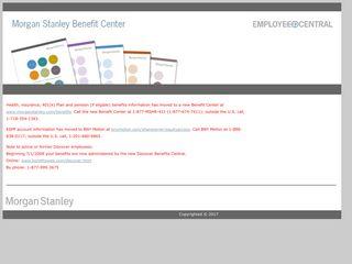 Morgan Stanley Benefit Center - benefitsweb.com