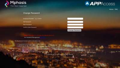 MphasiS First-Time Login User - appaccess.mphasis.com