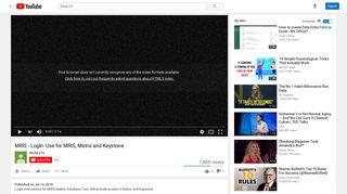 MRIS - LogIn: Use for MRIS, Matrix and Keystone - YouTube