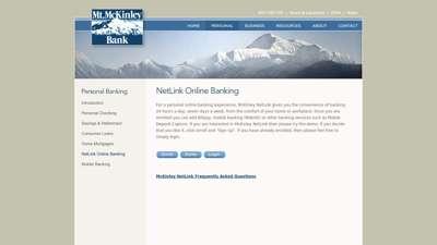 Mt. McKinley Bank - Personal Banking - Online Banking