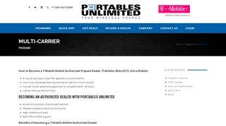 Multi-Carrier - Portables Unlimited Inc.