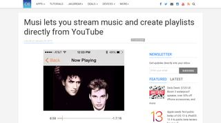 Musi lets you stream music and create playlists directly from ...