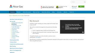 My Account - Nicor Gas
