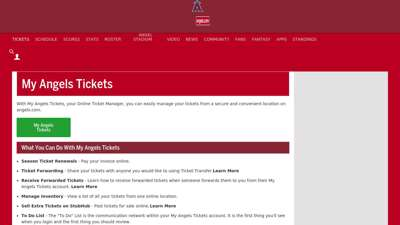 My Angels Tickets  Los Angeles Angels