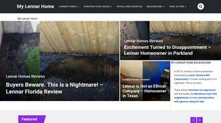 My Lennar Home   My Nightmare with Lennar Homes Builder