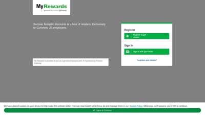 My Rewards  Login - Cummins