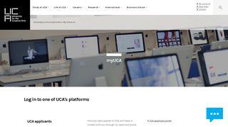 My UCA.ac.uk - UCA - University for the Creative Arts