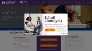 MyChart | Patient Portal | Novant Health UVA Health System