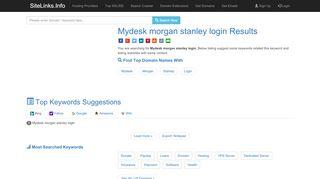 Mydesk morgan stanley login Results For Websites Listing
