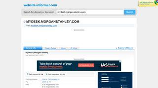mydesk.morganstanley.com at WI. myDesk | Morgan Stanley