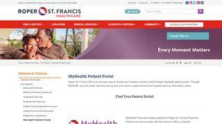 MyHealth Patient Portal   Charleston, SC - Roper St. Francis