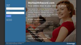 MyHealthRecord: Log In