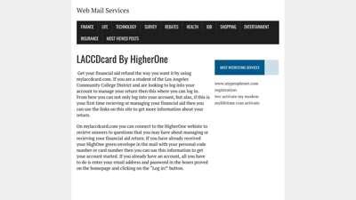mylaccdcard.com - Debit MasterCard by Higher One  - fidp