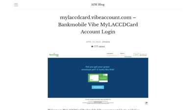 mylaccdcard.vibeaccount.com - Bankmobile Vibe MyLACCDCard ...