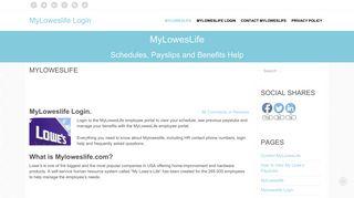Myloweslife Login: www.myloweslife.com Employee Login ...
