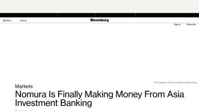 Nomura Is Finally Making Money From Asia Investment ...