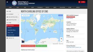 North Carolina Office of EMS - nremt
