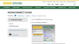NOVAConnect Login :: Northern Virginia Community College
