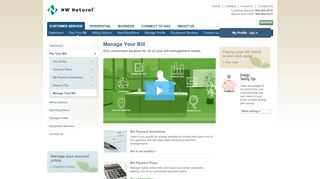 NW Natural Manage Your Bill - NW Natural