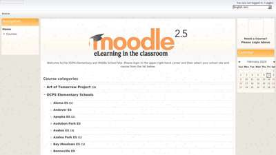 OCPS Moodle Elementary & Middle