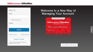 Office Depot Credit Card: Sign On