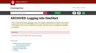 One Start Portal