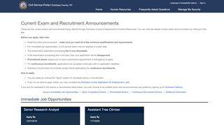 Online Application - Login: Civil Service Commission - SCSC