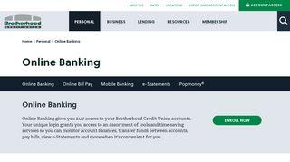 Online Banking | Brotherhood Credit Union