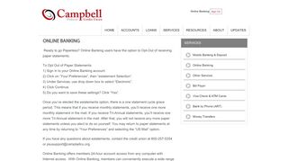 Online Banking :: Campbell Federal Credit Union