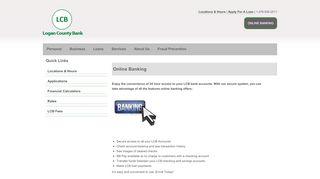 Online Banking :: Logan County Bank