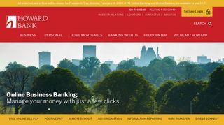 Online Business Banking   Howard Bank