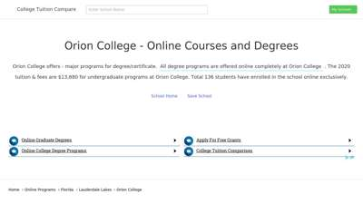 Online Programs  Orion College