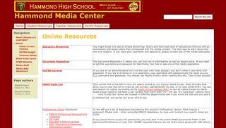 Online Resources - Hammond Media Center - Google Sites