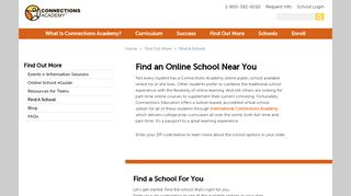Online School Locator   Connections Academy