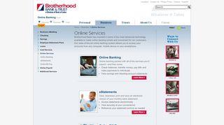 Online Services | Brotherhood Bank & Trust