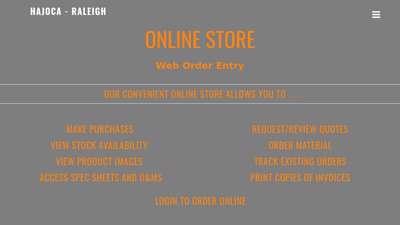 Online Services – Hajoca – Raleigh